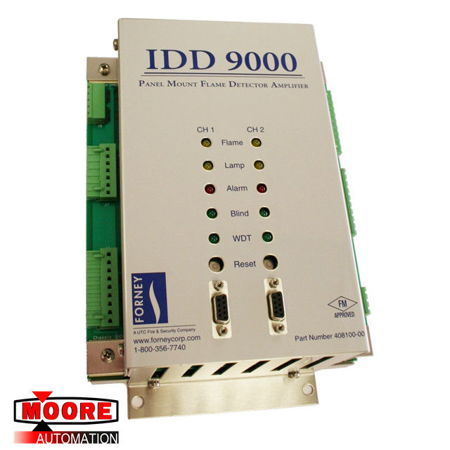 IDD 9000 408100-00 Forney Panel Mount Flame Detector Amplifier